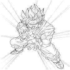 Coloriage De Dragon Ball Z Sangoku Super Saiyan Divin L