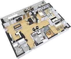 Modern 2 Bedroom Apartment Floor Plans Floor Plans Roomsketcher