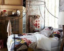 rustic italian furniture. rustic italian furniture decor bedroom with brick wals and metal bed frame floral