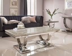 arianna cream marble coffee table