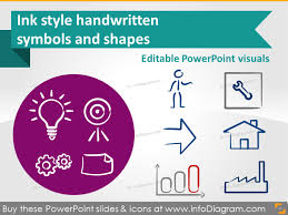 Ppt Style Handwritten Sketch Ink Symbols For Powerpoint