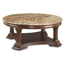 glamorous large round coffee table with marble on top design round