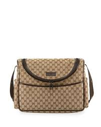 gucci bags at neiman marcus. gg canvas leather-trim diaper bag gucci bags at neiman marcus i
