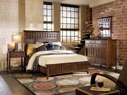 Small Rustic Bedroom Wonderful Small Rustic Bedroom With Brick Walls Also Teak Bedding
