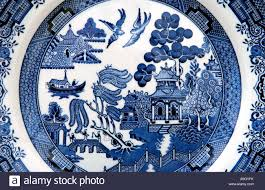 Blue Willow Pattern Custom Decorating