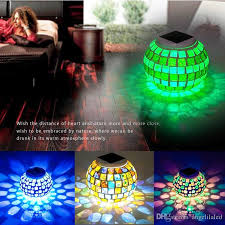 color changing solar garden lights. 2018 Led Solar Powered Mosaic Glass Ball Living Room Lights,Color Changing Table Lamps, Outdoor Lights For Christmas,Home,Yard From Color Garden