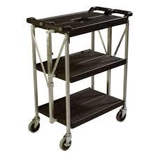 Lovable Folding Service Cart Folding Office Cart Collapsible Folding
