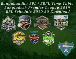 Bangabandhu Bpl Schedule Bbpl Time Table Bpl Schedule 2019 20 Download Bangladesh Premier League 2019 20