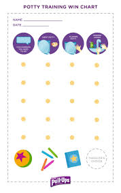 Pull Ups Rewards Chart Potty Time Chart Week Spotting The Signs Of Readiness To