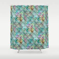 mermaid shower curtain 71x74 extra long 71x94