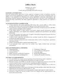 Purchasing Agent Sample Job Description Resume Coordinator Pictures