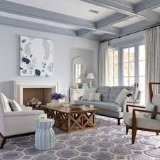 Blue gray living room Greyish Blue Example Of Large Coastal Formal Dark Wood Floor Living Room Design In Jacksonville With Gray Houzz Blue Gray Living Room Ideas Photos Houzz