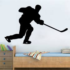 High Quality Hockey Player Color Black Wall Stickers Self Adhesive Home  Decor Living Room Hockey Wall Decorative Art Murals-in Wall Stickers from  Home ...