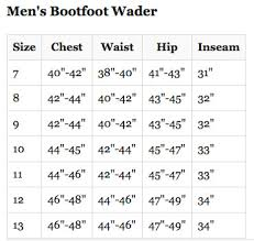 Lacrosse Waders Size Chart