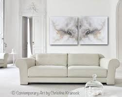 giclee print art abstract grey white painting diptych canvas prints coastal modern neutral grey taupe wall art set of 2 on abstract wall art set of 2 with original art white grey abstract painting modern canvas prints