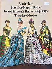 victorian fashion paper doll book from harper s bazar 1977 16 pages uncut