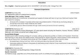 resume stunning college resume examples training consultant