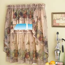 Valance Kitchen Curtains Alluring White Jcpenney Kitchen Curtain Made Of Polyester 1