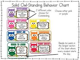 First Grade O W L S Owl Standing Behavior Chart