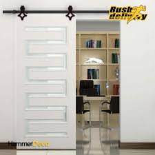 single barn door designs. High Quality 5 8 FT Single Sliding Barn Wood Closet Door Hardware Rustic Black Modern European -in Doors From Home Improvement On Designs O