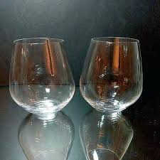 crystal wine glasses glass stemless lenox waterford marquis crystal stemless wine glasses set of