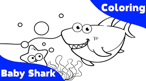 Baby Shark Coloring Book for Kids ABC Song for Children - YouTube