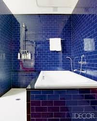 bathroom saphire blue subway tiles Google Search House Ideas