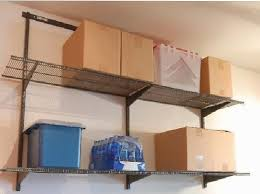 garage wall mounted shelving garage shelving ideas