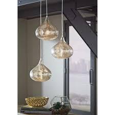 lighting 3 light pendant lovely designer s choice gold mercury tint glass 3 light pendant