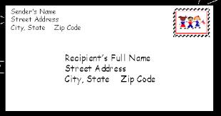Letter Envelope Example Bio Resume Samples