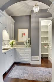 Awesome Grey Kitchen Wall Colors With White Cabinets