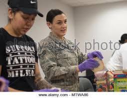 Senior Airman Bernadette Galindo, left, 11th Security Forces ...