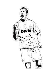 Cristiano Ronaldo Real Madrid Coloring Soccer Player Sheet Kids