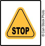 danger warning sign stop in yellow triangle vector ilration