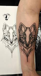 Tetování Vlk V Geometrii Geometric Wolf Tattoo Tetování Tattoo
