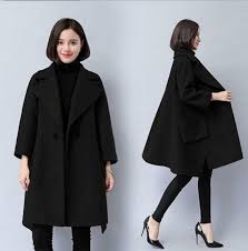 details about women winter warm wool blend baggy cape a style 2018 jackets outdoor mid long x
