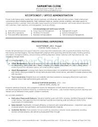 No Experience Resume Template Best Medical Receptionist Resume With No Experience Reception Job