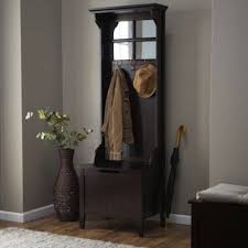 Coat Rack Bench With Mirror Enchanting Hall Tree W Bench Storage Antique Coat Rack Stand Mirror Entryway