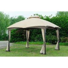 replacement canopy set beige for l gz933pst 10x12 bellagio biscayne gazebo