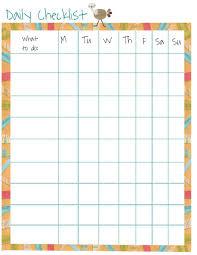 Daily Checklist Chart Pin By Leslye Feil On Teach Your Children Well Chore Chart