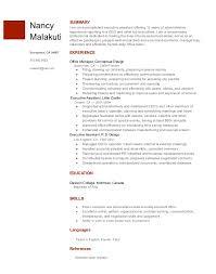 Resume On Google Docs Enchanting Executive Assistant Resume Nancy Malakuti Google Docs