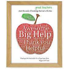 apple teacher small wooden frame
