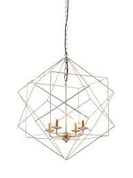 gold wire pendant light geometric small