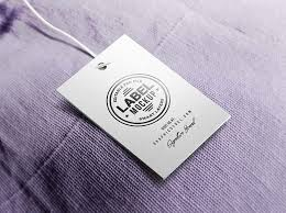 Clothing Tag Label Design Free Clothing Tag Label Mockup Psd