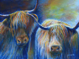scotland art highland cattle painting