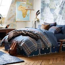 loren plaid duvet cover sham pbteen for college dorm room prepare 6