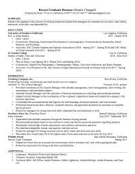Recently Graduated Resume Resume Samples Los Angeles Resume Service