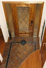 Etched Tile Designs Custom Entryway Grand Foyer Floor Tile Medallion And Border