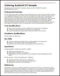 Catering Assistant Job Description For Resume 40 Limitedcompanyco Extraordinary Catering Resume