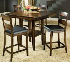 clarion piece square pedestal pub table set by bernards  home
